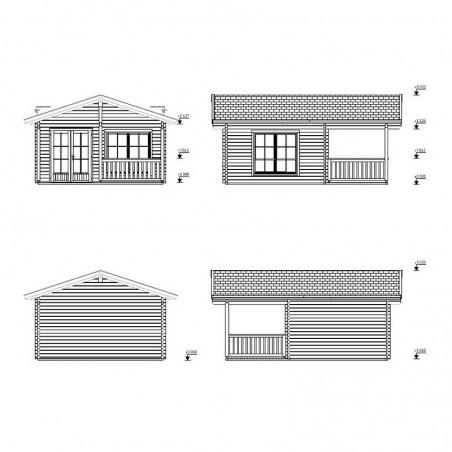 Medidas caseta madera Agneta 18,8 + 12,5 m²