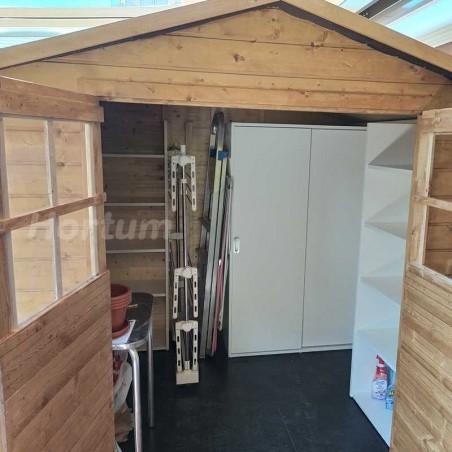 Interior caseta de madera para jardín Lode - Hortum.es