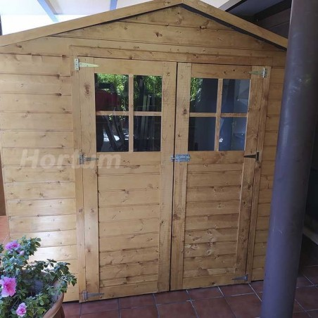 Caseta de madera Lode. 12 mm, 212 x 182 cm, 3.85 m²