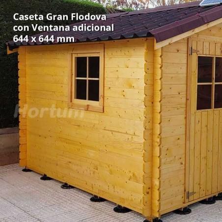 Caseta de madera Gran Flodova con ventana adicional