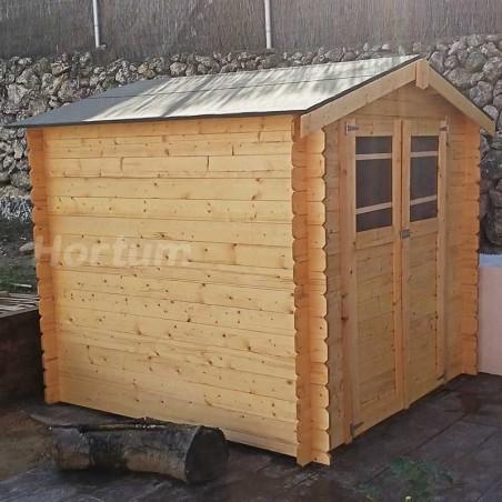Caseta de madera Milovic 19 mm, 209 x 209 cm, 4.37m² - Hortum.es