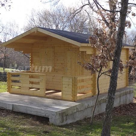 Caseta de madera Emma 34 mm, 350 x 350(480) cm. 16.80 m²