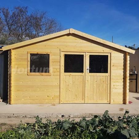 Caseta de jardín de 4x4 m - Caseta de madera Floran