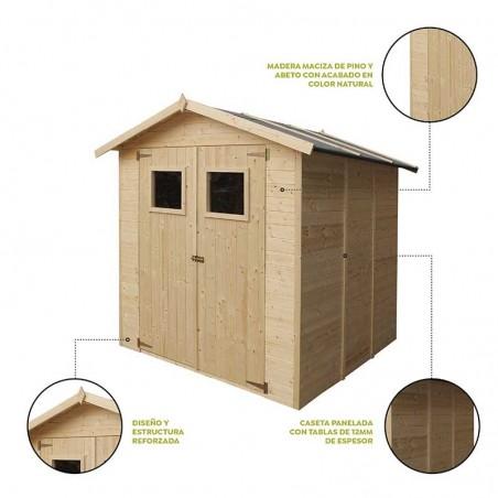 Características caseta de madera Tallín.