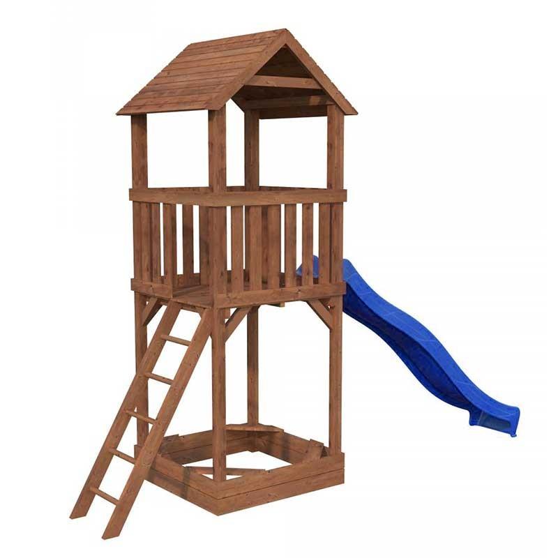 Parque infantil Jesper con tobogán azul