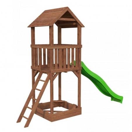Parque infantil Jesper con tobogán verde