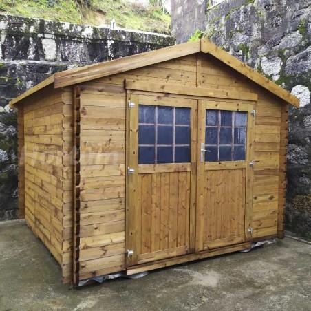 Caseta de madera 3x3 m con suelo