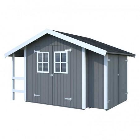 Cobertizo y leñero de madera Marcus 6,5 m2