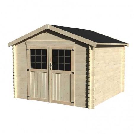 Caseta de madera Barine 3x3m. 8,88 m². 34 mm.