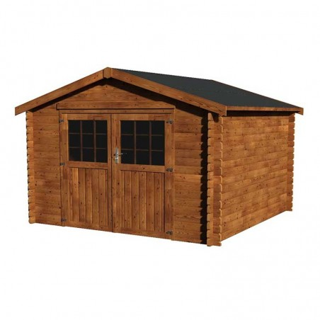 Caseta de jardín 3x3m en madera tratada