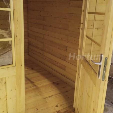 Interior caseta de jardín 3x3m, 44mm