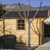 Caseta de jardín 3x3m. 44 mm grosor madera. Dos aguas.