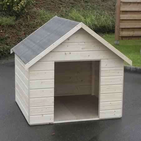 Caseta para perros. Casita de madera para perros