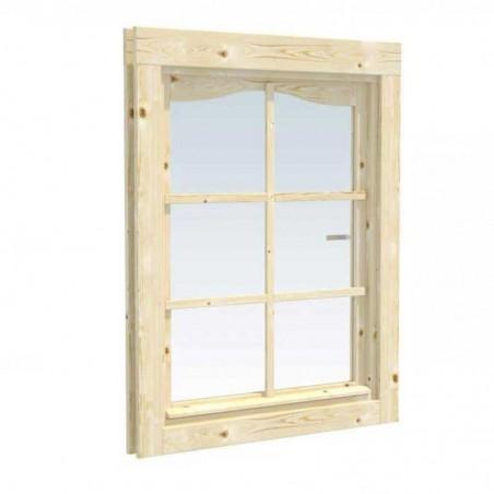 Ventana adicional simple para casetas de madera de Palmako 34mm | 66x89 cm