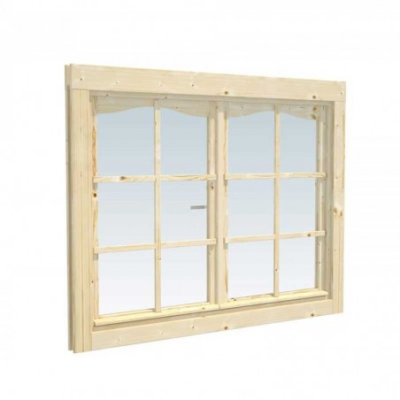 Ventana extra doble 119x89 cm. Ventana para caseta de madera de 28mm  Palmako