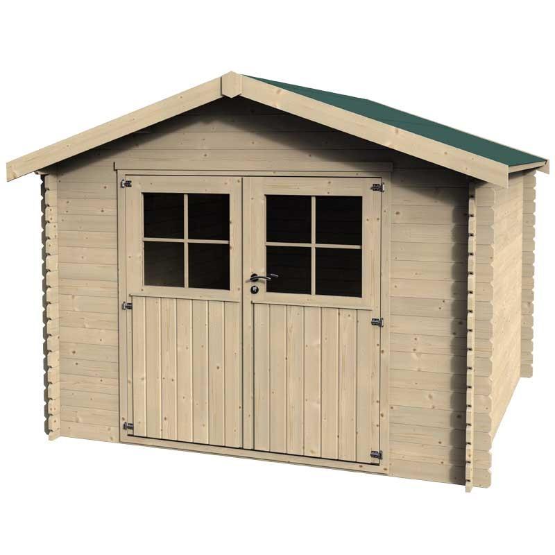 Caseta de madera 3x2,75m. 28 mm de espesor.