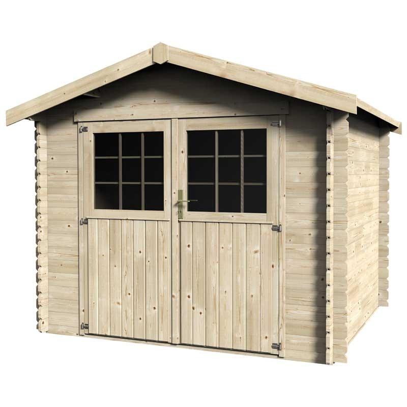 Caseta de madera Maura. 28mm, 268x233cm, 6.25m²
