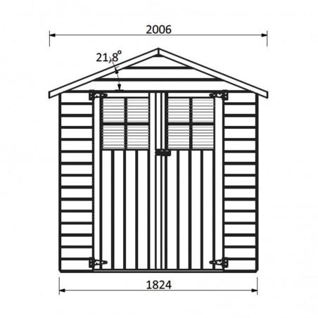 Medidas caseta de madera Tim - Hortum.es