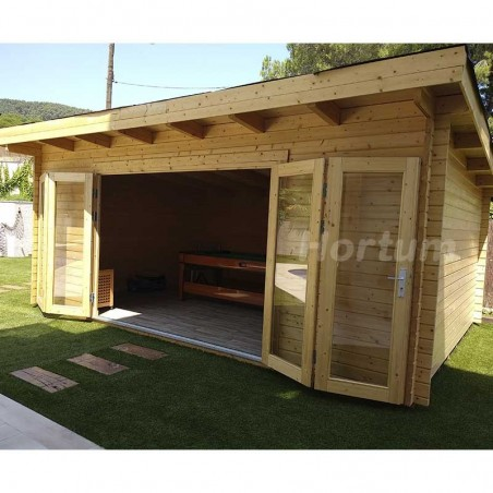 Caseta de madera Lea 19,4m2 - Hortum.es