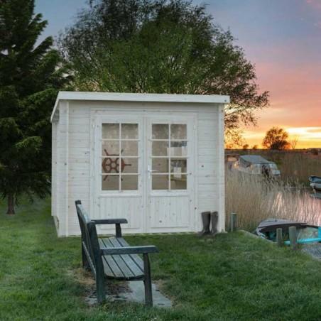 caseta de madera con techo a un agua 6.9 m2