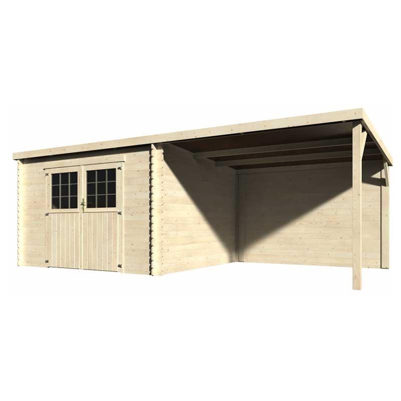 Caseta de madera Eden. 28 mm, 605 x 300 cm, 18 m²