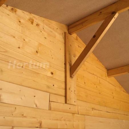 Caseta de madera para jardín Manil - Detalles techo