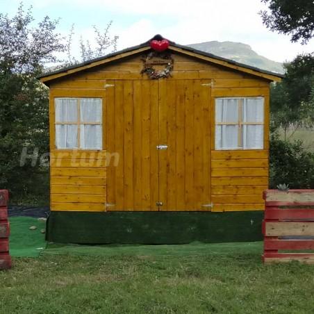 Caseta de madera Fresno. 12 mm, 272 x 182 cm. 4.96 m²