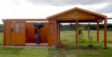 Observatorio casero en caseta de jardín