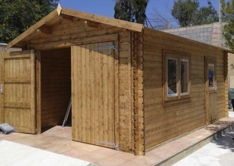 Garaje de madera Tony