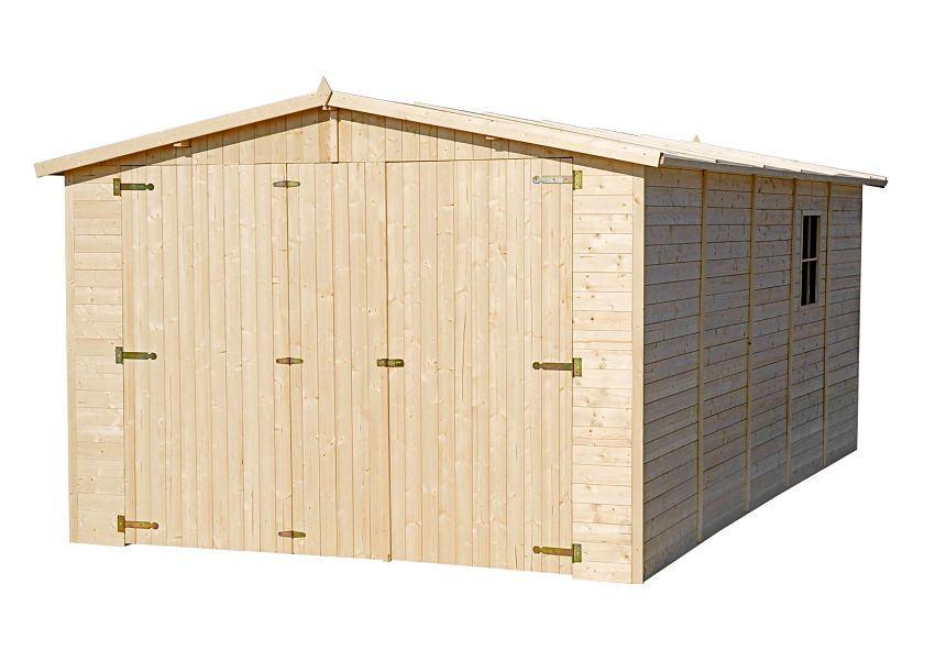 Garaje de madera Mikhail I