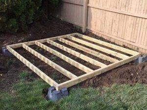 Suelo de madera con bloques
