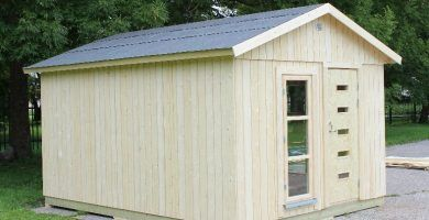 Caseta de madera habitable