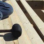 Instalar lama de madera doblada