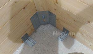 Anclaje Caseta de madera a suelo