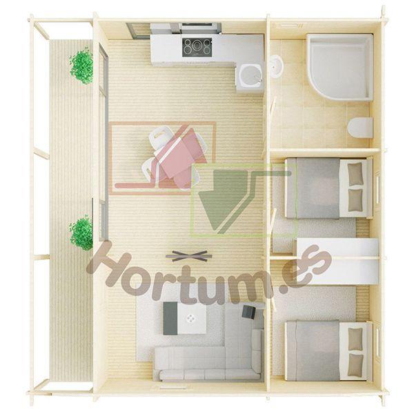 Interior minicasa Duero - Hortum