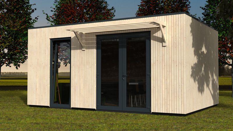 Mini Casa de madera Studio 17 m2 - 528 x 335 cm. Hortum.es