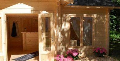 Caseta de madera Habitable con Baño