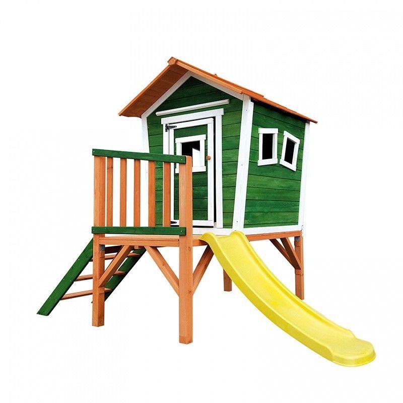 Casita infantil de madera con tobogán