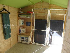Caseta de madera lode, organización