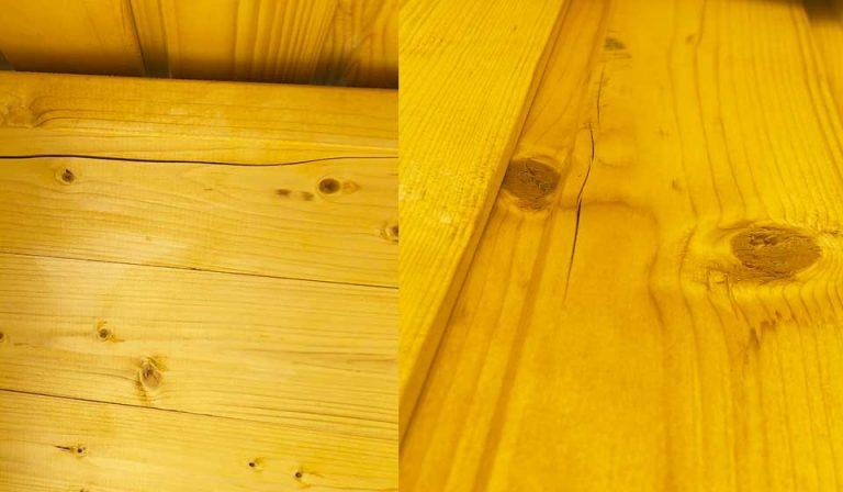 Grietas en madera