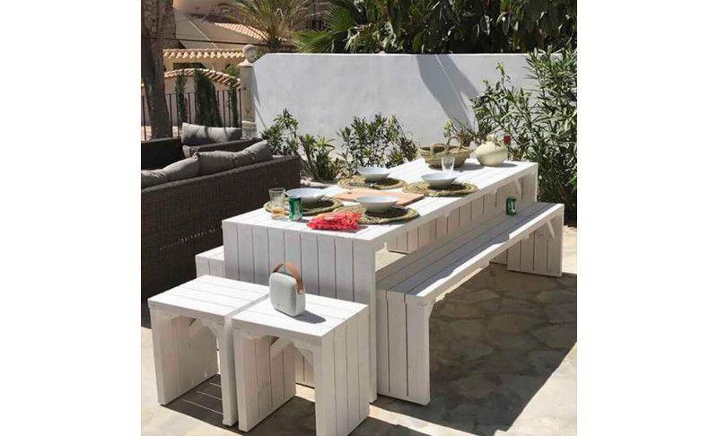 Mesas de madera para jardín