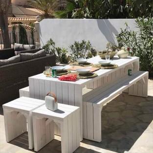Mesas de madera jardín