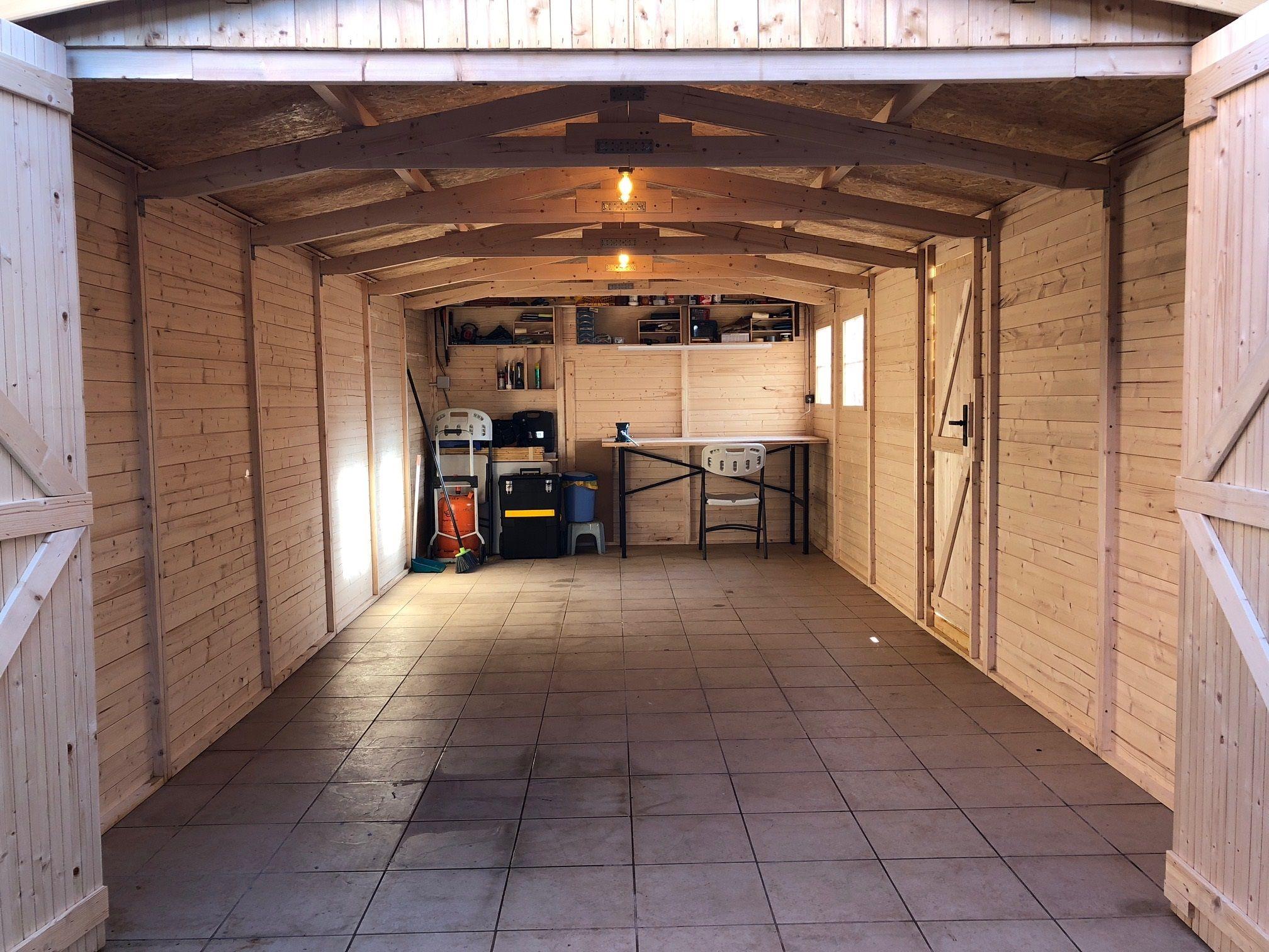 Interior garaje paneles 19 mm grosor