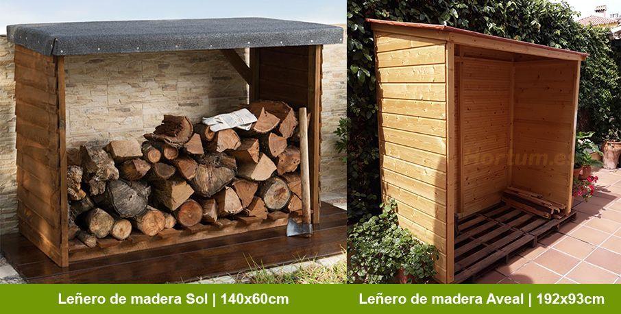 Leñeros de madera Hortum