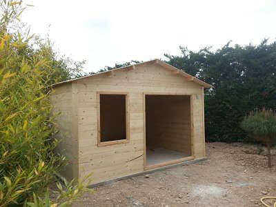 base de cimentación para casetas de madera