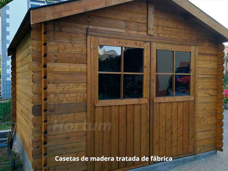 Casetas de madera tratadas de fábrica - Hortum