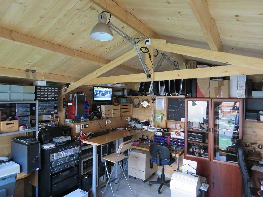 Organización interior de una caseta de madera