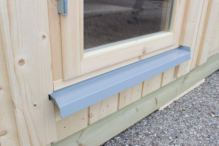 Detalle marco ventana aluminio