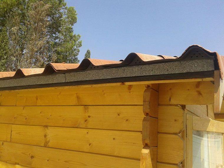 Detalle aislamiento térmico caseta de madera