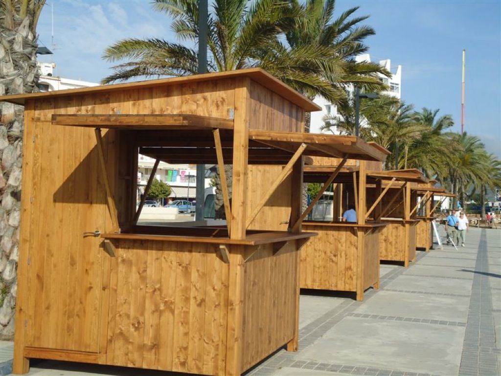 Kiosco de madera a medida